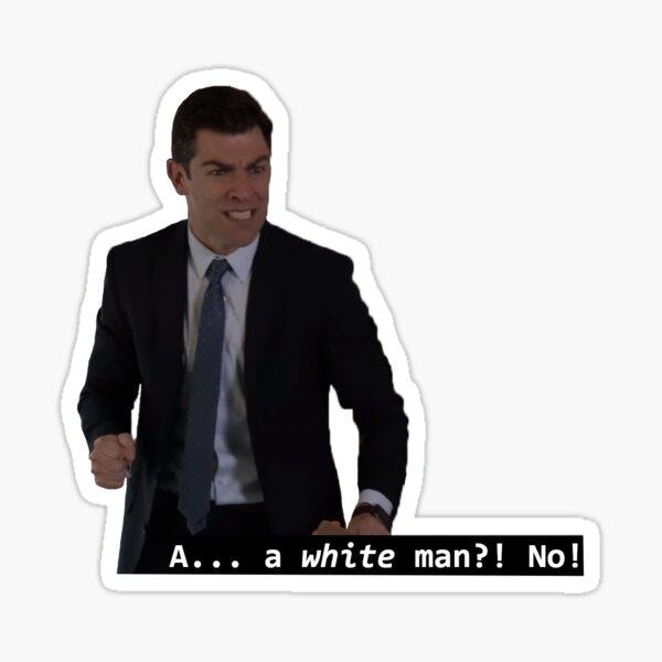 Schmidt White Man Sticker