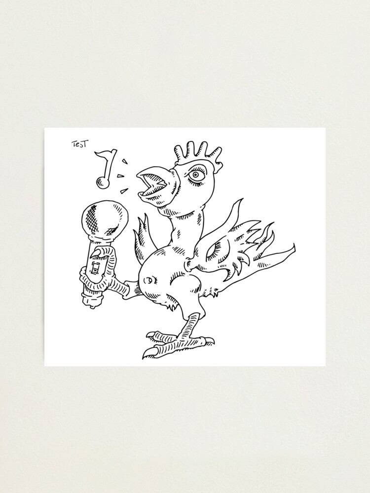 Alternate view of How to draw a singing chicken Photographic Print