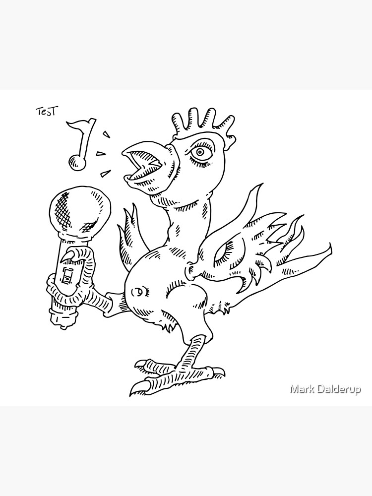 How to draw a singing chicken by markdalderup