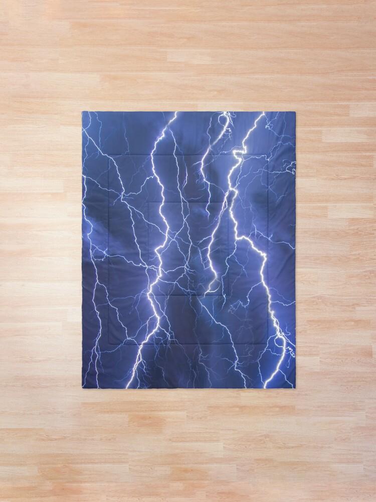 Alternate view of Dazzling blue lightning Comforter