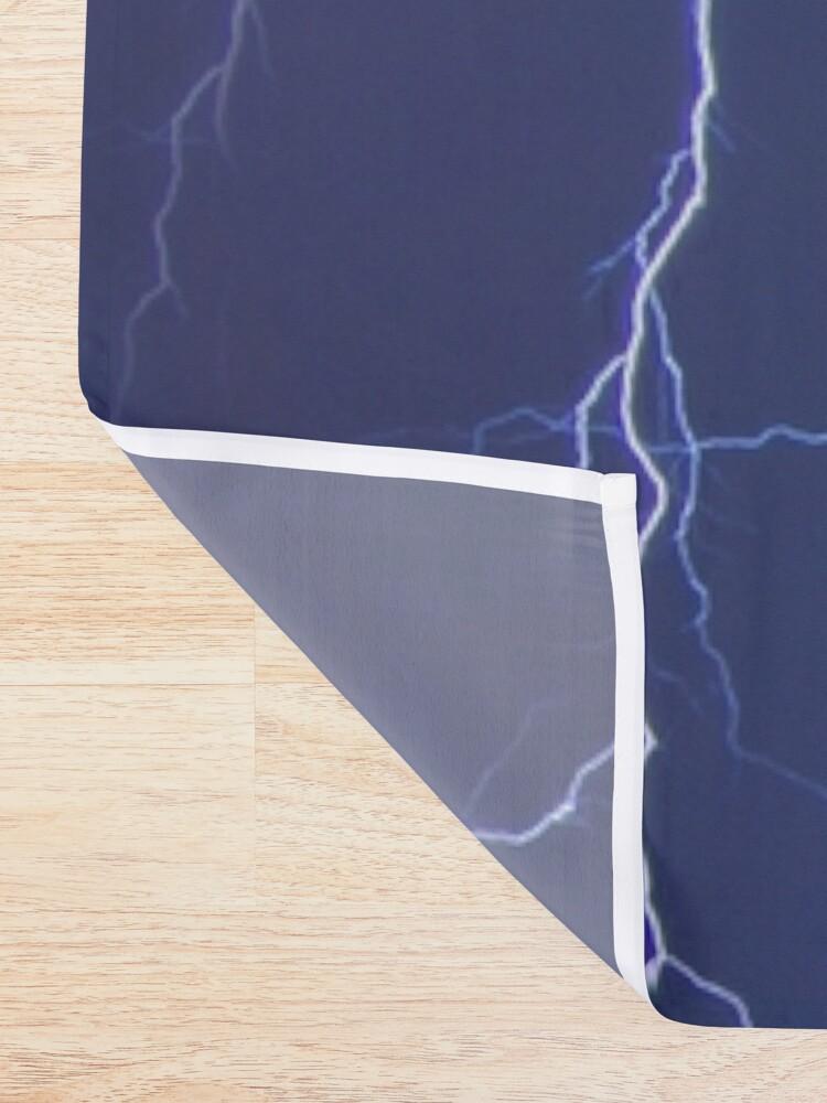 Alternate view of Dazzling blue lightning Shower Curtain