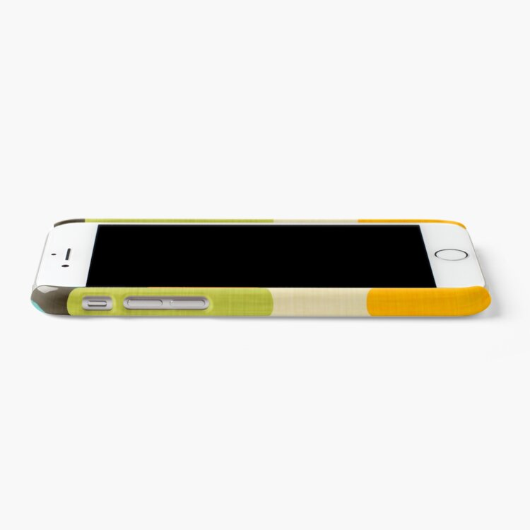 Alternate view of Retro Color Block Popsicle Sticks Blue iPhone Case & Cover