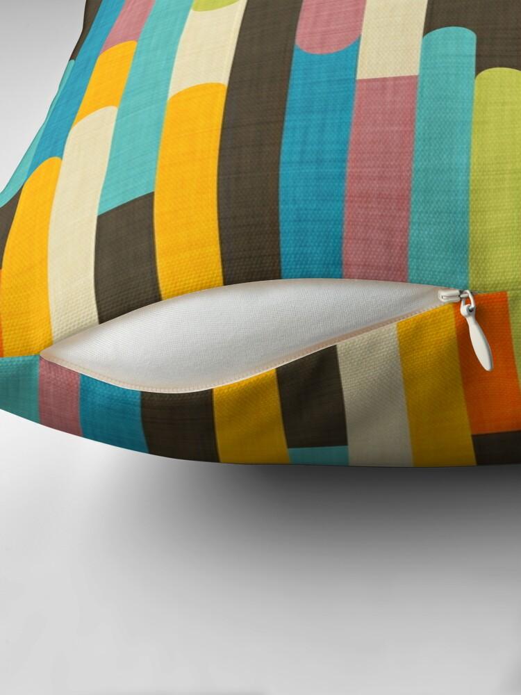 Alternate view of Retro Color Block Popsicle Sticks Blue Throw Pillow
