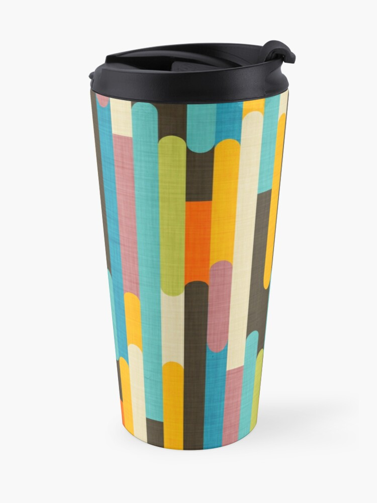 Alternate view of Retro Color Block Popsicle Sticks Blue Travel Mug