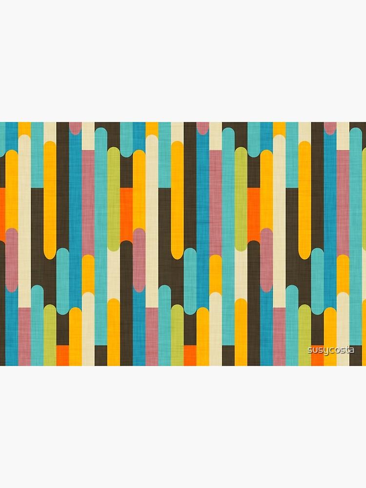 Retro Color Block Popsicle Sticks Blue by susycosta