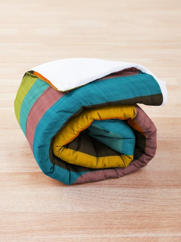 Alternate view of Retro Color Block Popsicle Sticks Blue Comforter