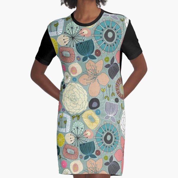 orientalische Blüten T-Shirt Kleid