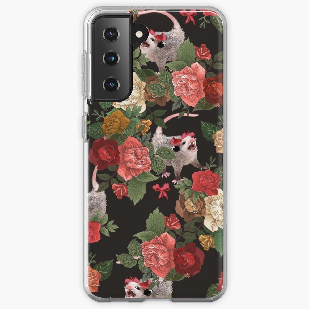 Opossum floral pattern Case & Skin for Samsung Galaxy