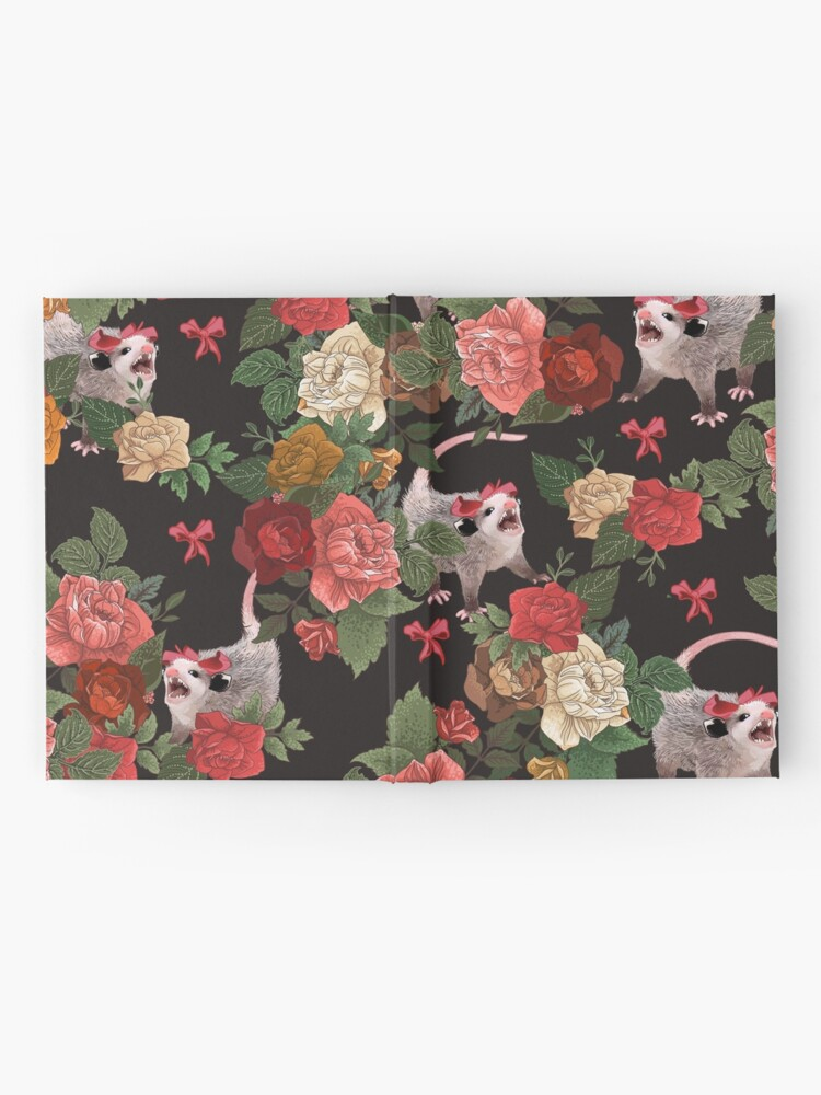 Alternate view of Opossum floral pattern Hardcover Journal