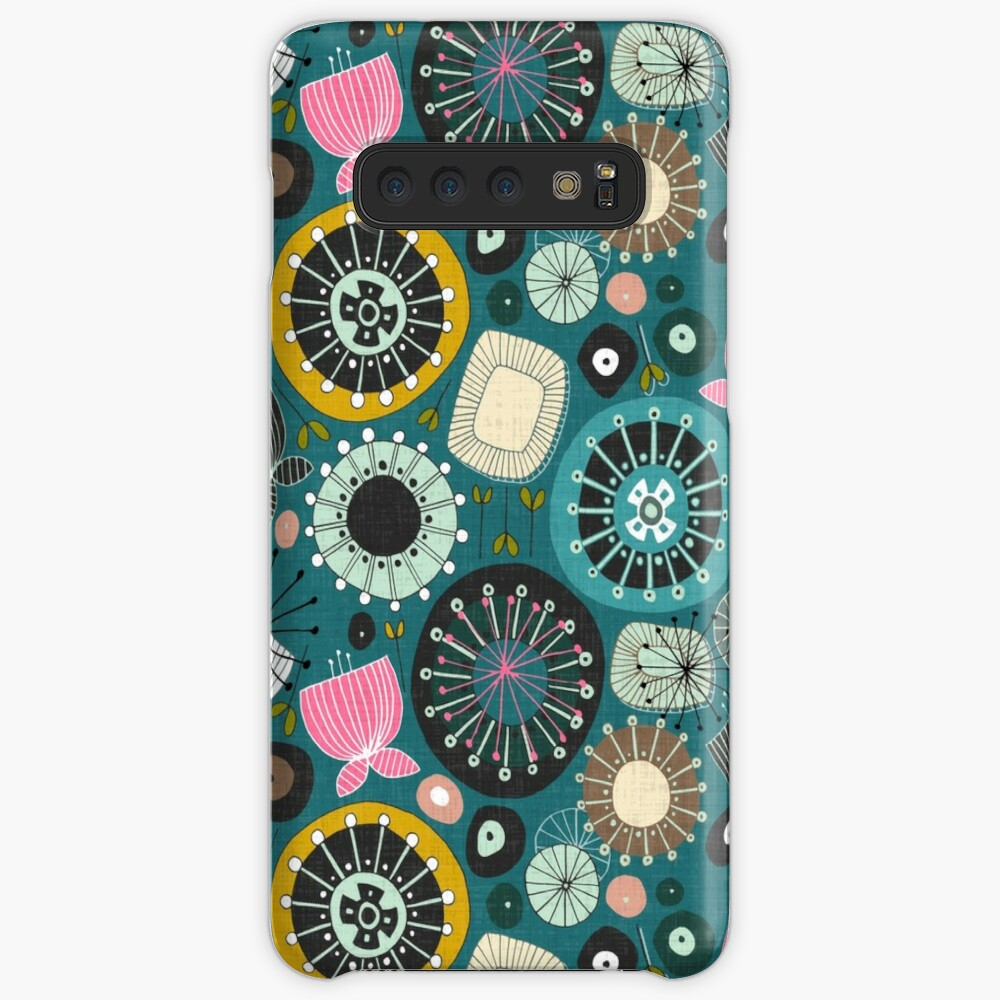 blooms teal Case & Skin for Samsung Galaxy