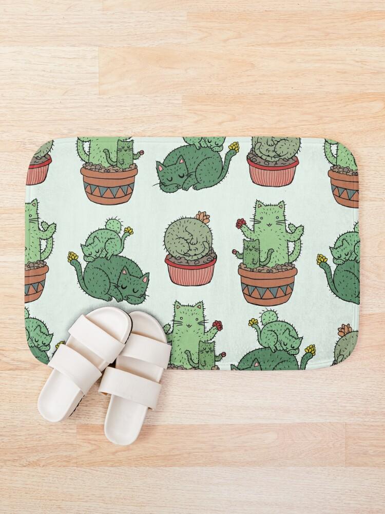 Alternate view of Cactus Cats Bath Mat