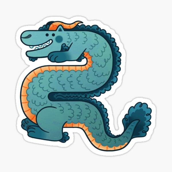 Teal Dragon Sticker