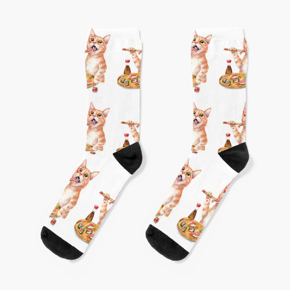 Sushi Cat Socks