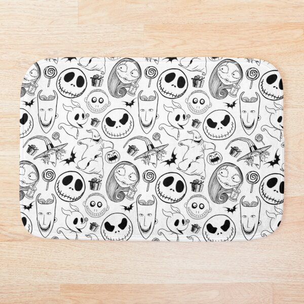 Nightmare before Christmas Pattern Bath Mat