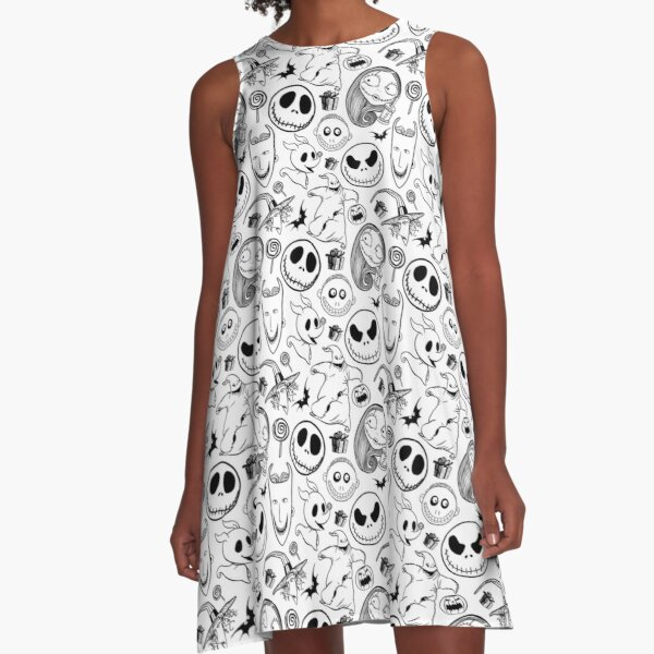 Nightmare before Christmas Pattern A-Line Dress