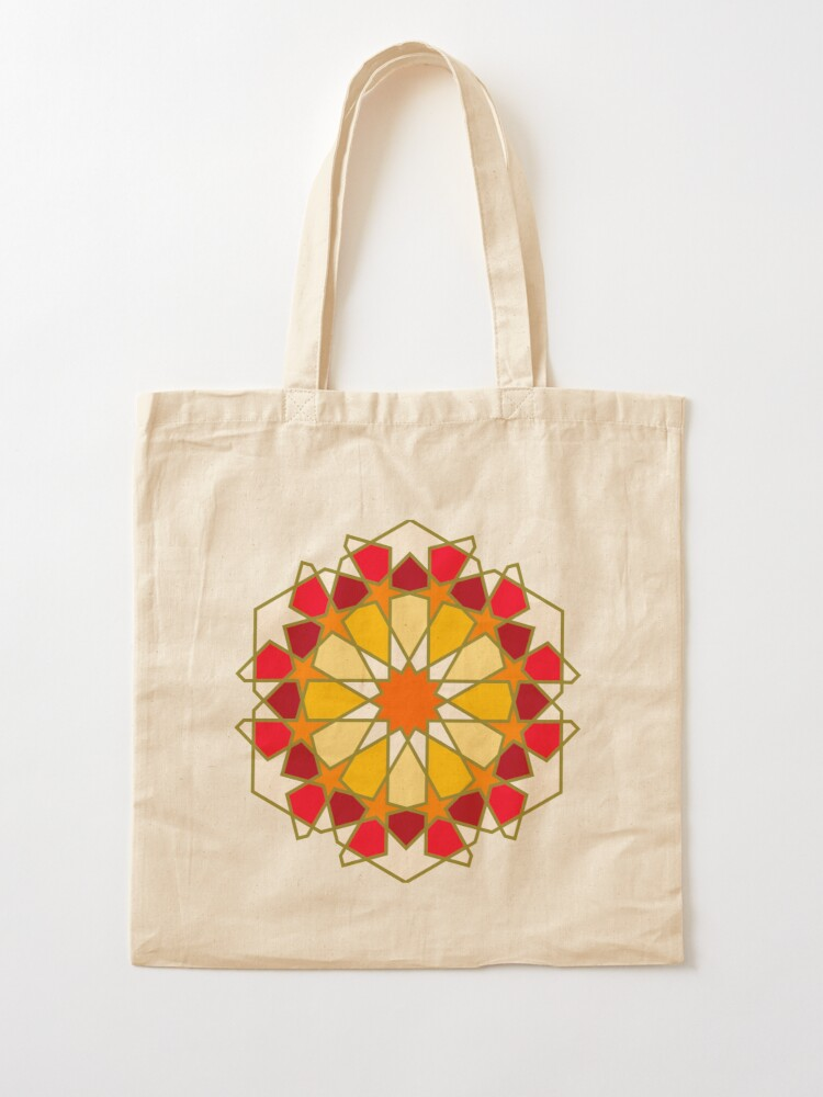 Alternate view of Geometric Pattern: Arabic Tiles: Sunset Tote Bag