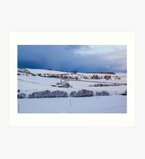 A Winter Landscape Art Print