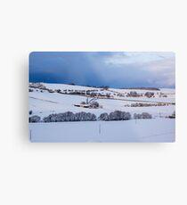 A Winter Landscape Metal Print