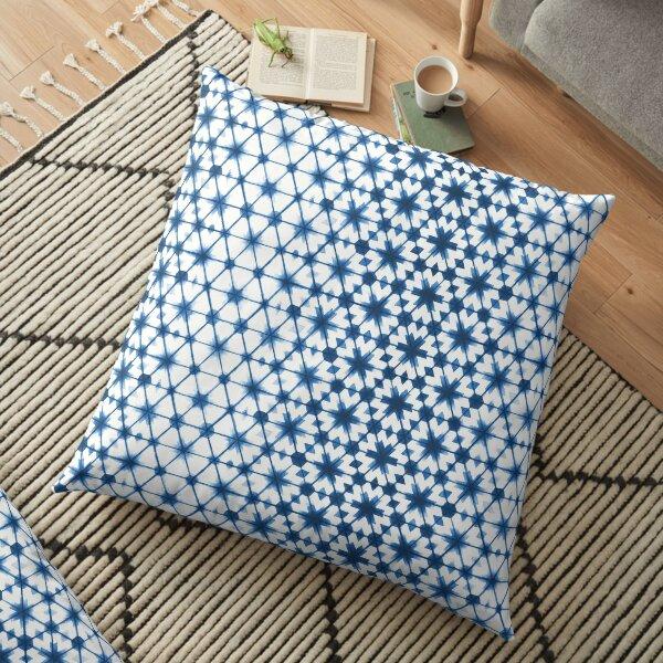 Shibori via Morocco Floor Pillow