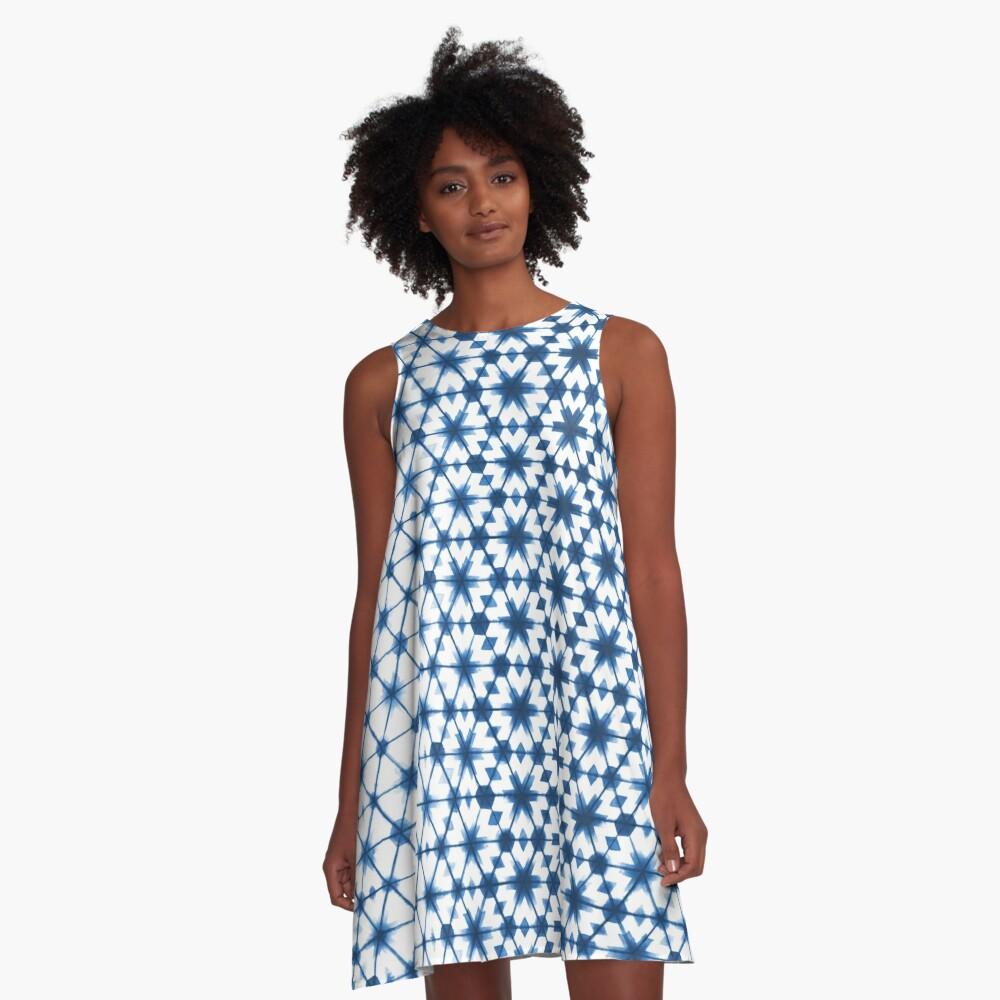 Shibori via Morocco A-Line Dress