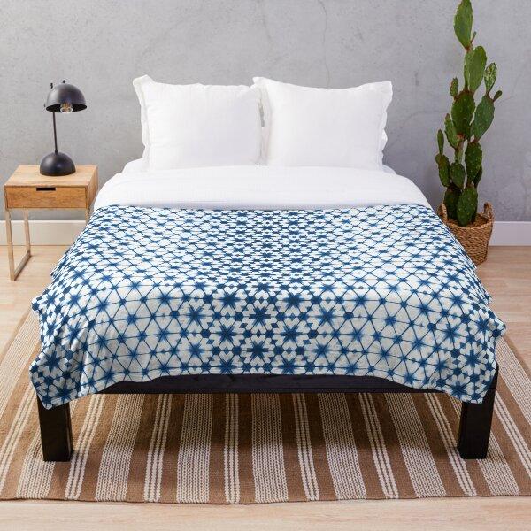 Shibori via Morocco Throw Blanket