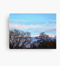 November Sky in Kalispell - South Canvas Print