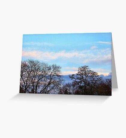 November Sky in Kalispell - South Greeting Card