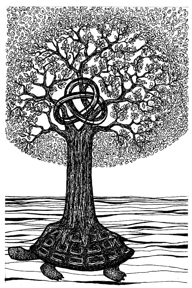Quot Doodle 015 Tree Of Life Quot By Gosha Redbubble