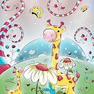 Giraffes in Wonderland by Concetta Kilmer