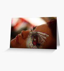 Portrait, facepaint Greeting Card