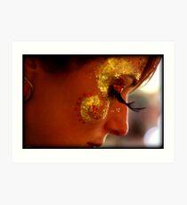 Portrait, Facepaint, Eyelashes Art Print