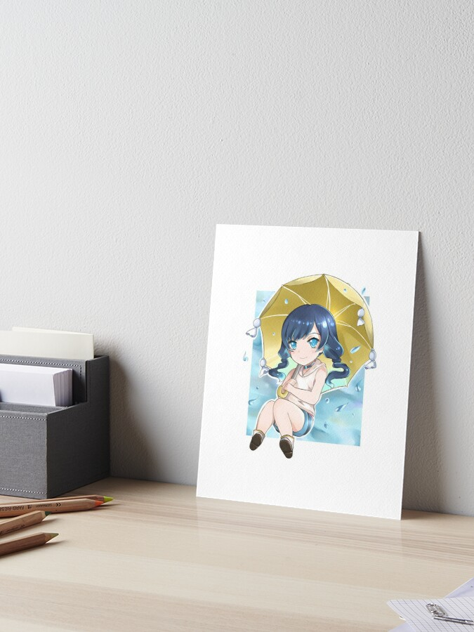 Hina Amano Weathering With You Art Board Print By Shirasaki Redbubble