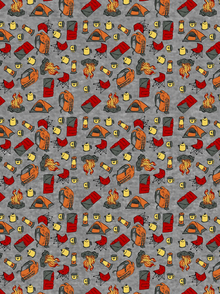 Backpacking items pattern by SonneFaunArt