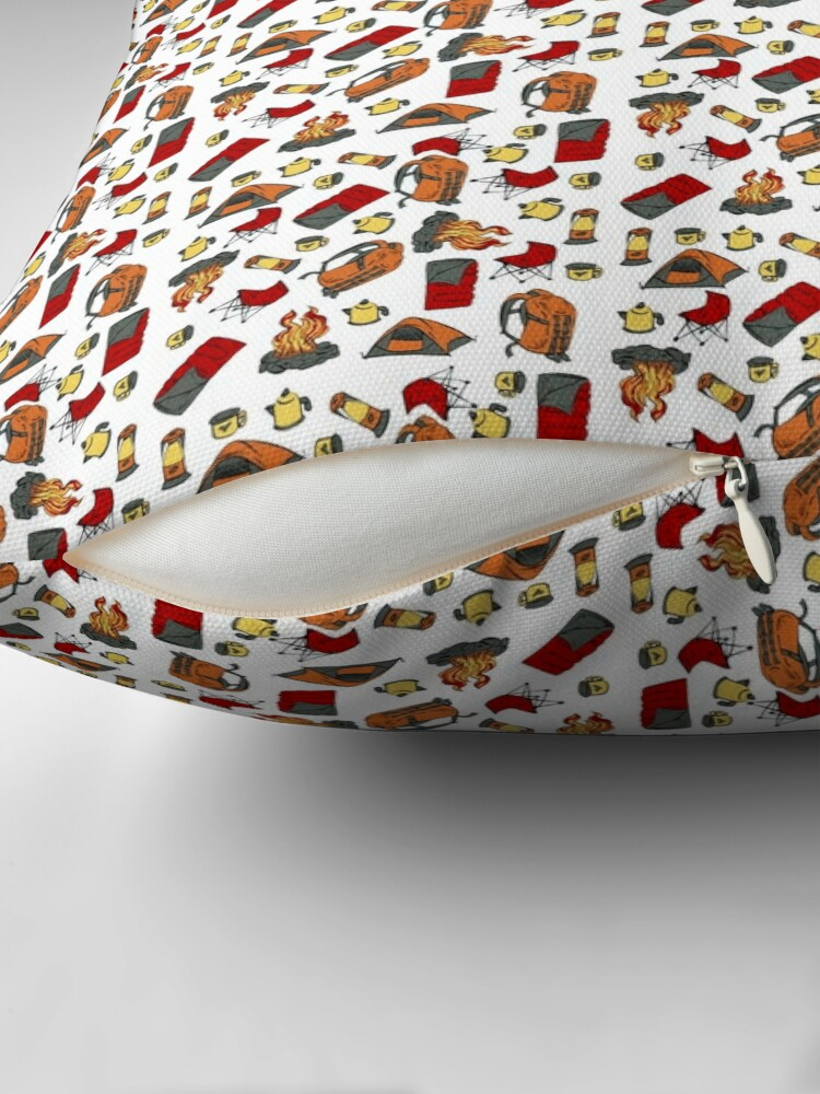 Alternate view of Backpacking items pattern Floor Pillow