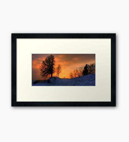 Solo Sunset Framed Print