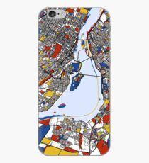 Montreal Mondrian map iPhone Case
