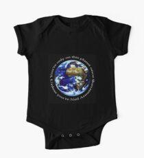 Body de manga corta para bebé Astronauta