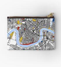 New Orleans Mondrian map Studio Pouch