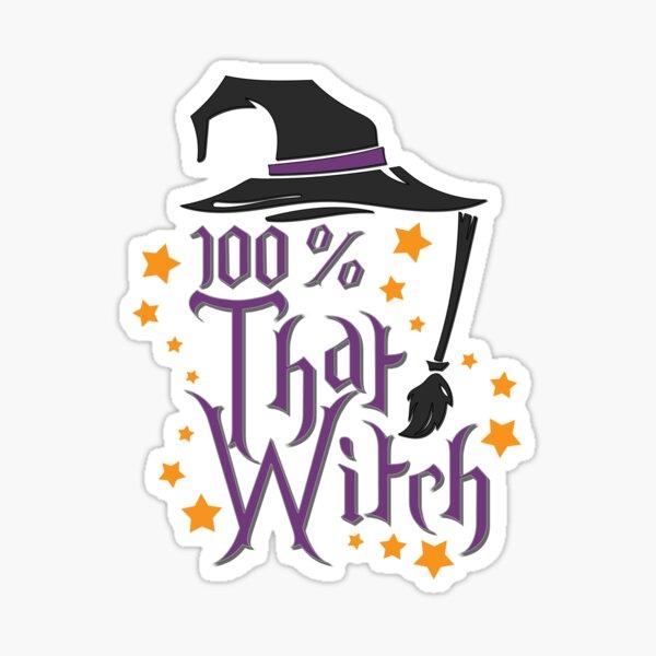 100% That Witch Halloween Sticker