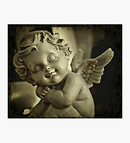 Plump Little Cherub Photographic Print