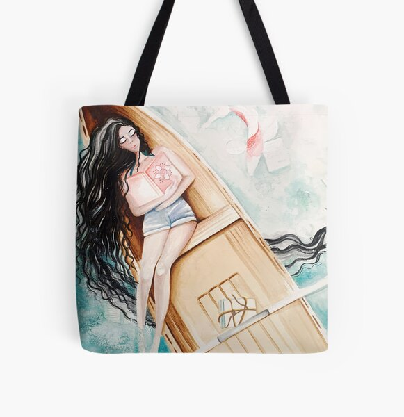 Pages All Over Print Tote Bag