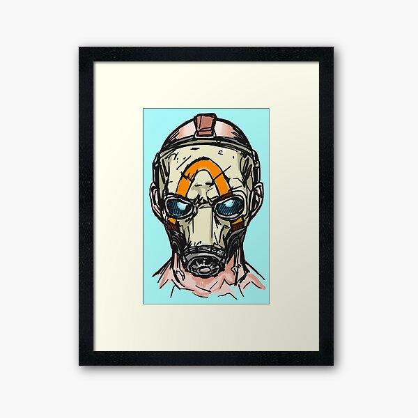 Borderlands 3 Psycho Mask Framed Art Print