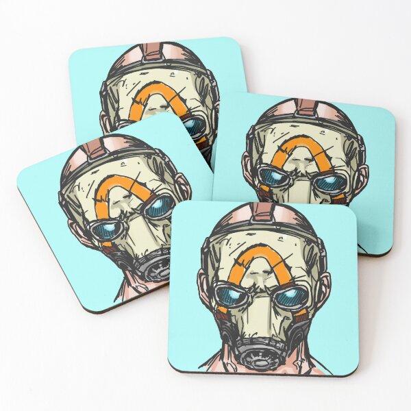 Borderlands 3 Psycho Mask Coasters (Set of 4)