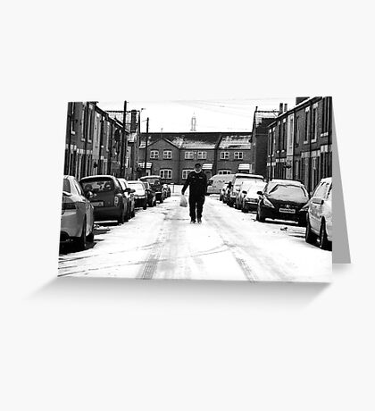 Middle of the Road Greeting Card