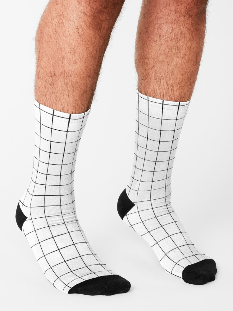Alternate view of White Grid Socks