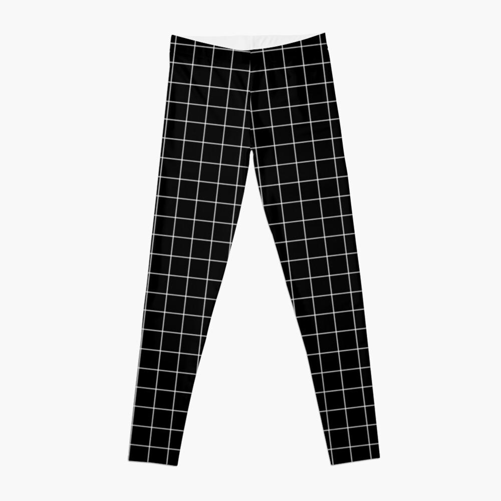 Black window pane print Leggings