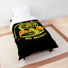 Cobra Karate First Strike Hard Kai Strike Fast No Mercy Comforter