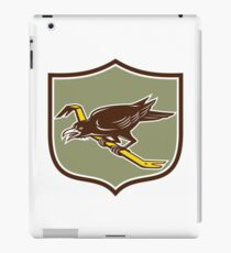 Crow Perching Crowbar Crest Retro iPad Case/Skin