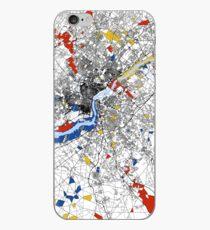 Philadelphia Mondrian map iPhone Case