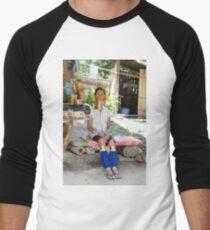 Longneck Village  Men's Baseball ¾ T-Shirt